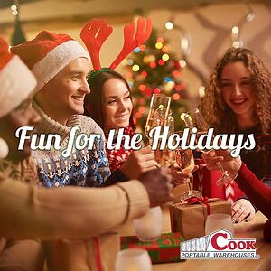 Fun for the Holidays Playlist + Cook Portable Warehouses