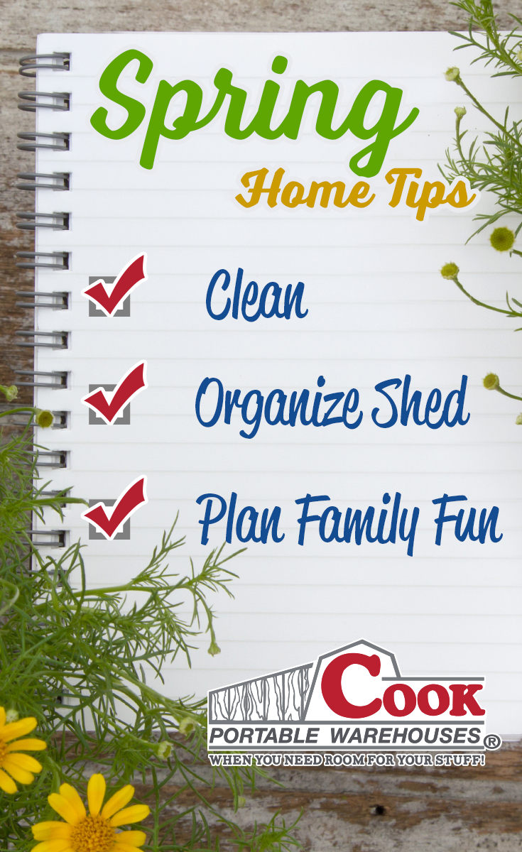 Spring Home Tips from Cook Portable Warehouses