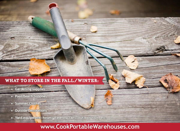 What to store in your shed Fall/Winter